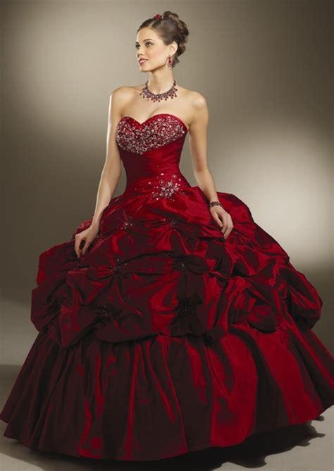 burgundy gown dressed  girl