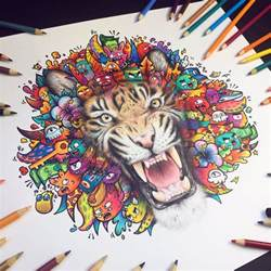 how to draw a doodle tiger vexx on quot tiger doodle is done made with cheap