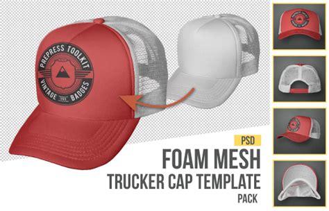 Trucker Hat Jaring Imbong foam mesh trucker cap snap back template photoshop cap templates template