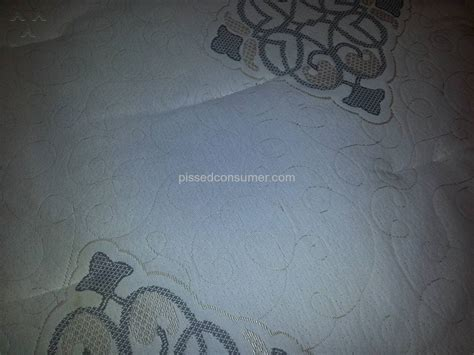 Mattress Firm Guarantee by Mattress Firm Uses Gold Thread That Looks Like Stains In