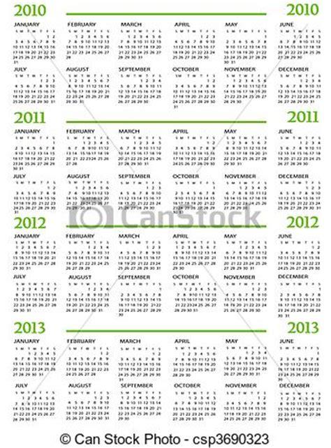 Calendrier Can 2013 Vecteurs De 2012 2011 Calendrier 2010 2013