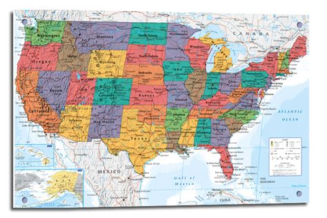 how to hang a map without a frame framed usa united states map wall chart poster ready to