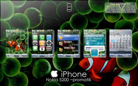 themes iphone s40 iphone theme nokia 5200 by promatik on deviantart