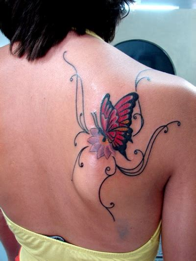 Colorful Butterfly Tattoo Designs Feminine Butterfly Tattoo Feminine Back Tattoos Designs