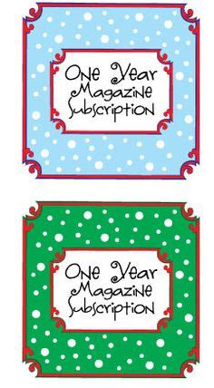 magazine subscription gift certificate template printables on printables random acts and bag