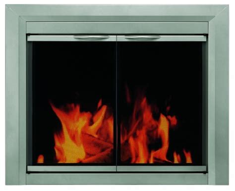 Cheap Fireplace Glass Doors Black Friday Pleasant Hearth Cb 3300 Colby Fireplace Glass Door Sunlight Nickel Small Cheap