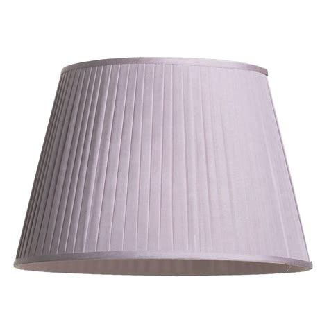 20 inch l shade round easy to fit knife pleated shade 20 inch lavender