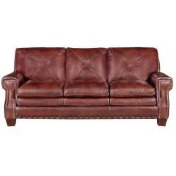 mckinney 88 quot burgundy leather sofa