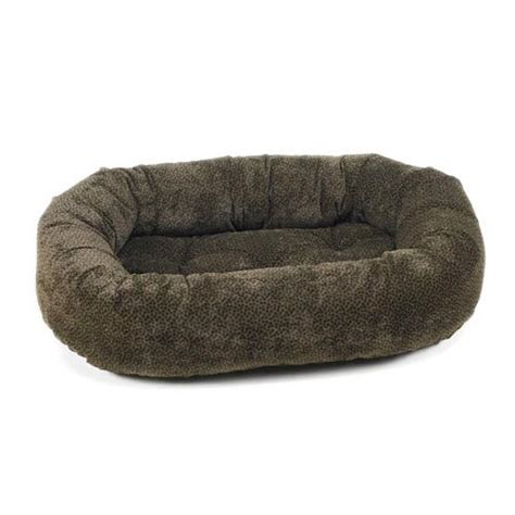 donut bed bowsers microvelvet donut bed chocolate bones beds for large dogs at