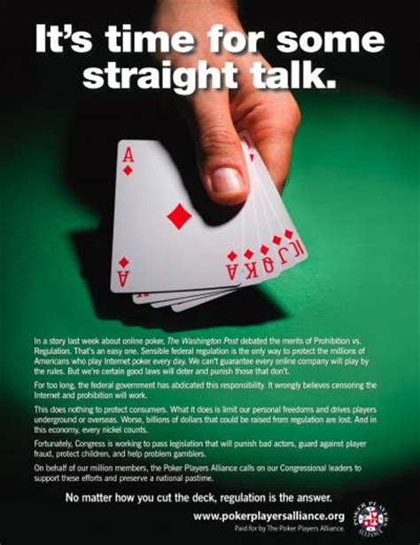 poker players alliance spreading word  ad campaign poker news