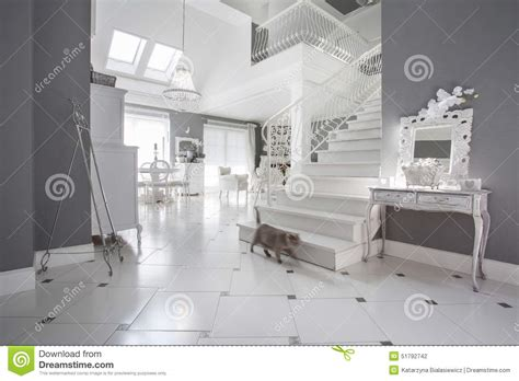 White And Grey Interior by White And Grey Expensive Interior Stock Photo Image