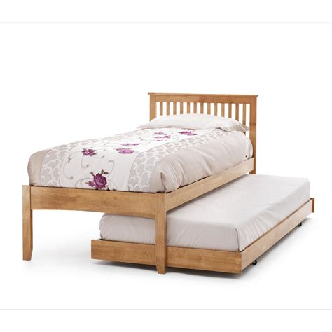 wood trundle bed serene freya wooden trundle guest bed pull out underbed
