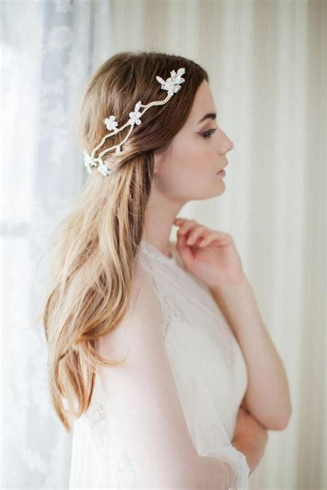 Wedding Hair With Headpiece by Boho Hair Vine Bridal Headpiece Floral Wedding