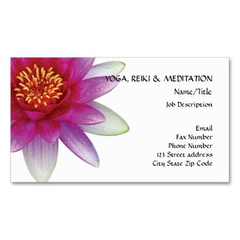 Lotus Flower Business Cards Template by Peace L Beautiful Pink Lotus Flower Water Business
