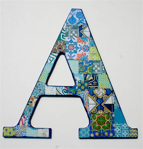 Decoupage Wooden Letters - wooden letters for nusery nursery letter a decoupage letter
