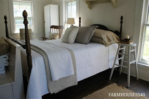 picture of a bedroom farmhouse 5540 guest bedroom reveal