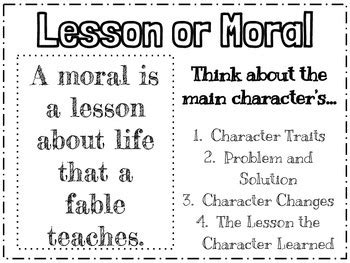 theme vs moral anchor chart literacy anchor charts lesson or moral anchor chart by stephanie shepard tpt