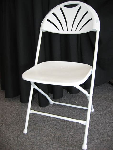 rent folding chairs fan back white folding chair surdel rentals