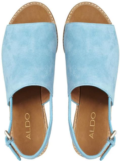 Flat Shoes Wedges Korean Rajut Light Blue 1 aldo cassica light blue flat sandals in blue lightblue lyst