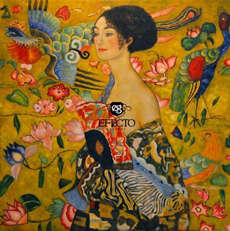 gustav klimt lady with fan gustav klimt lady with fan reproduction painting oil
