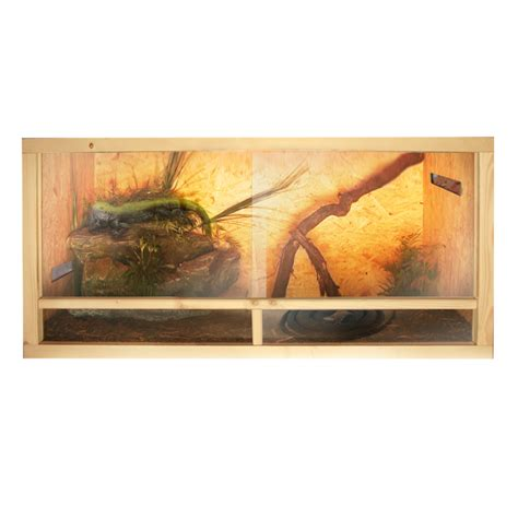 Lu Reptil terrarium 120x60x60 cm osb holz glas frontbel 252 ftung oder
