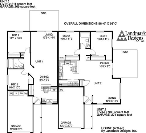 multi unit floor plans multi unit house plans home design horne 5528