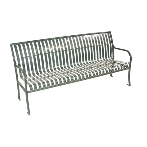 green metal bench bench slatted green metal 72 air designs