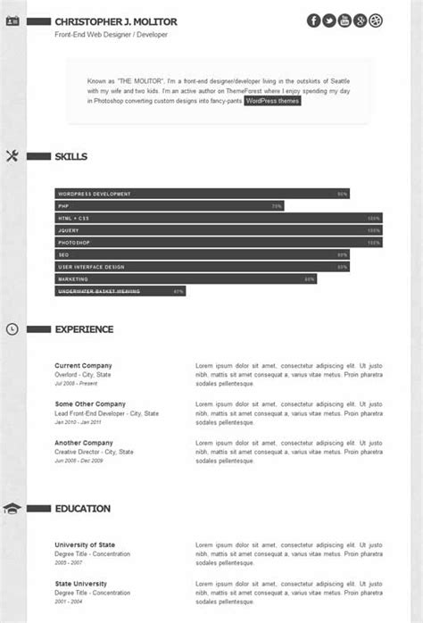 premium layers html vcard resume template 45 best html resume cv vcard templates free premium freshdesignweb