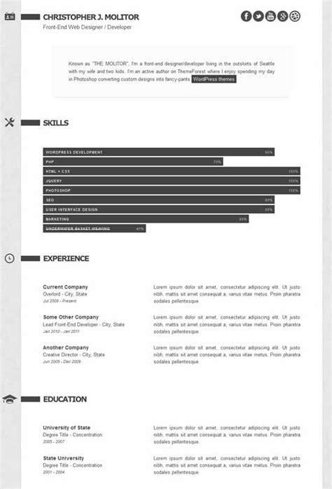 premium layers html vcard resume template free 45 best html resume cv vcard templates free premium freshdesignweb