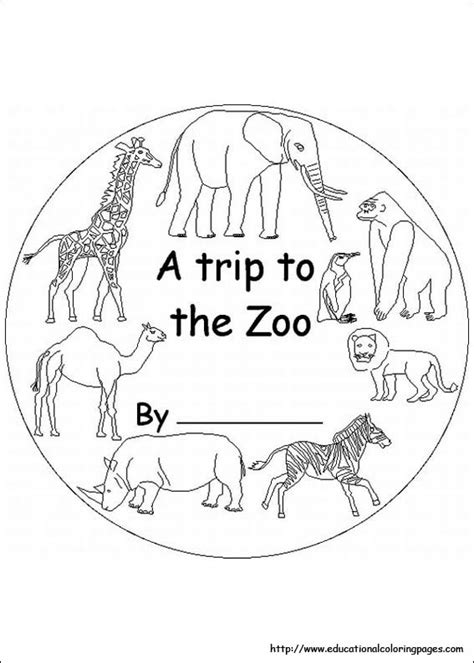 zoo animals coloring pages for kindergarten educational fun kids coloring pages and preschool skills