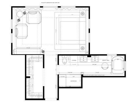 Master Bedroom Bathroom Size by 14 Wonderful Master Bath Dimensions House Plans 57399