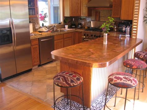 copper bar top cost copper and stainless countertop pricing concord sheet