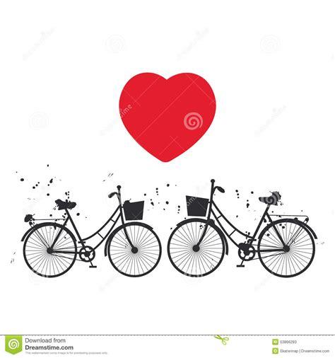 imagenes negras con corazones bici negra y coraz 243 n rojo en el fondo blanco vector