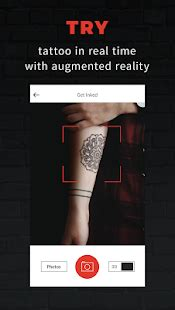 tattoo try on app inkhunter try tattoo designs android apps on google play