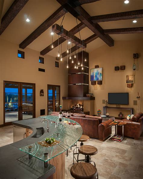 southwestern living rooms whisper rock residence southwestern living room