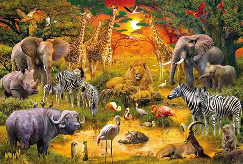 Water Pas Kentaro puzzle animals of africa schmidt spiele 56195 150 pieces