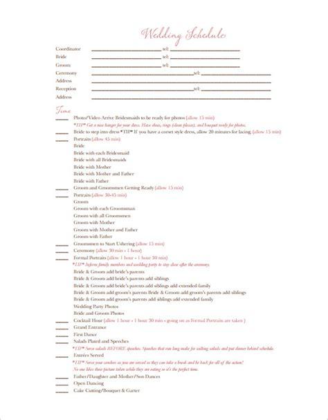 wedding timeline templates word excel  psd