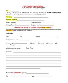 employment verification form template sle verification of employment form 10 exles in