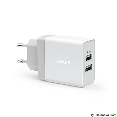 anker universal battery charger jual anker powerport 2 24w wall charger 2 port a2021321