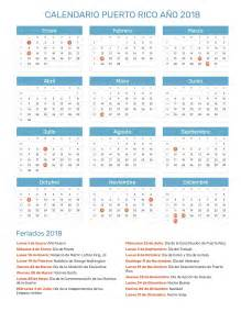 Calendario Hasta El 2018 Calendario A 241 O 2018 Feriados
