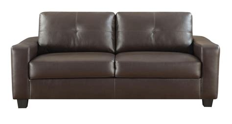 sofa bonded leather jasmine brown bonded leather sofa from coaster 502731