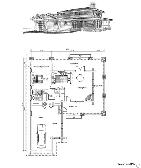 log home plan with garage log home with wraparound porch