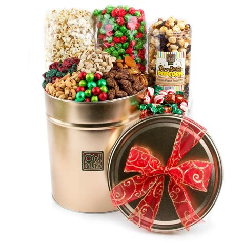 holiday tin gift 5 lb holiday nut gift baskets
