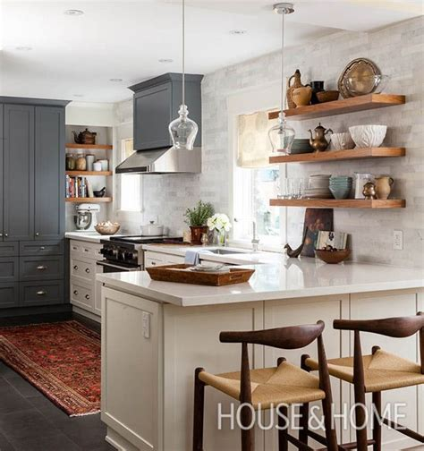 galley kitchen with island 30 kitchens that dare to bare all with open shelves
