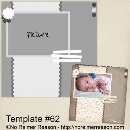 free digital scrapbook template 62 no reimer reason