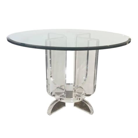 lucite dining room table lucite and glass dining table at 1stdibs