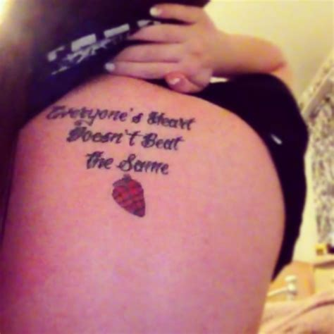 green day tattoo green day quote quot everyone s doesn t beat the same