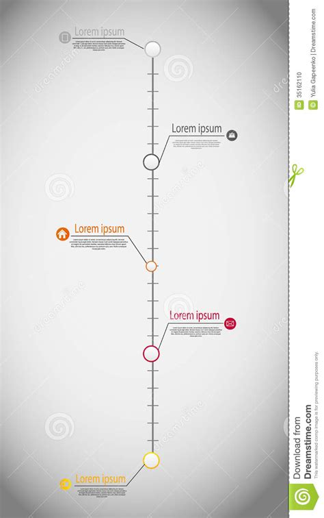 jpg to eps format timeline infographic business template vector stock photo