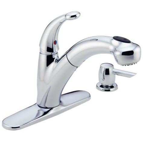 Delta Cicero Faucet by Delta Cicero Single Handle Pull Out Sprayer Kitchen Faucet