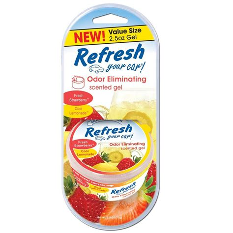 Cool Scents Strawberry febreze 0 06 oz linen and sky car vent clip air freshener 2 pack 003700094735 the home depot